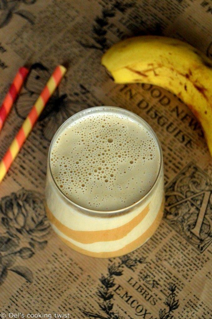 Smoothie crémeux banane et beurre de cacahuète
