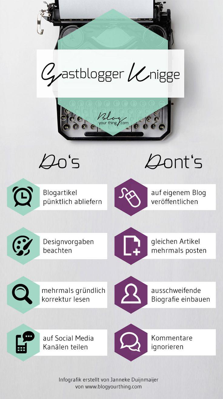 Gastblogger Knigge - Do's and Don'ts beim Gastbloggen - Infografik | Hacks und Tipps für Blogger