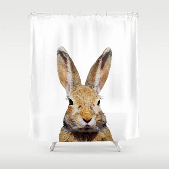 Bunny Rabbit Shower Curtain By Kathy Morton Stanion