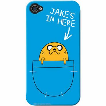 """Adventure Time iPhone case (""""Jake's in here"""")"""