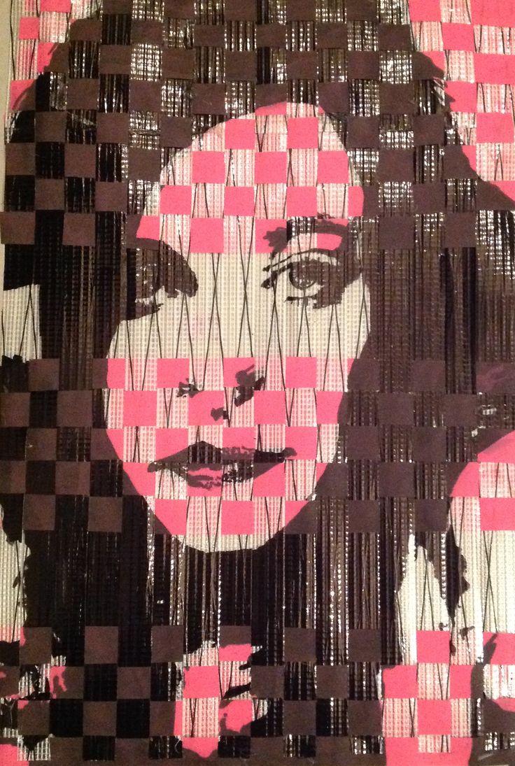 Autoportrait sur kevlar et toile de voile