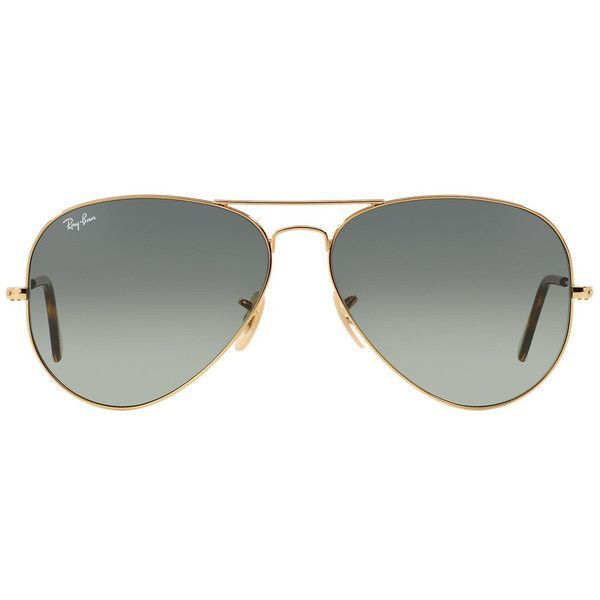 5d8dfbd746 Ray-Ban Aviator Havana Collection RB3025 181 71 ( 175) ❤ liked on Polyvore  featuring accessories