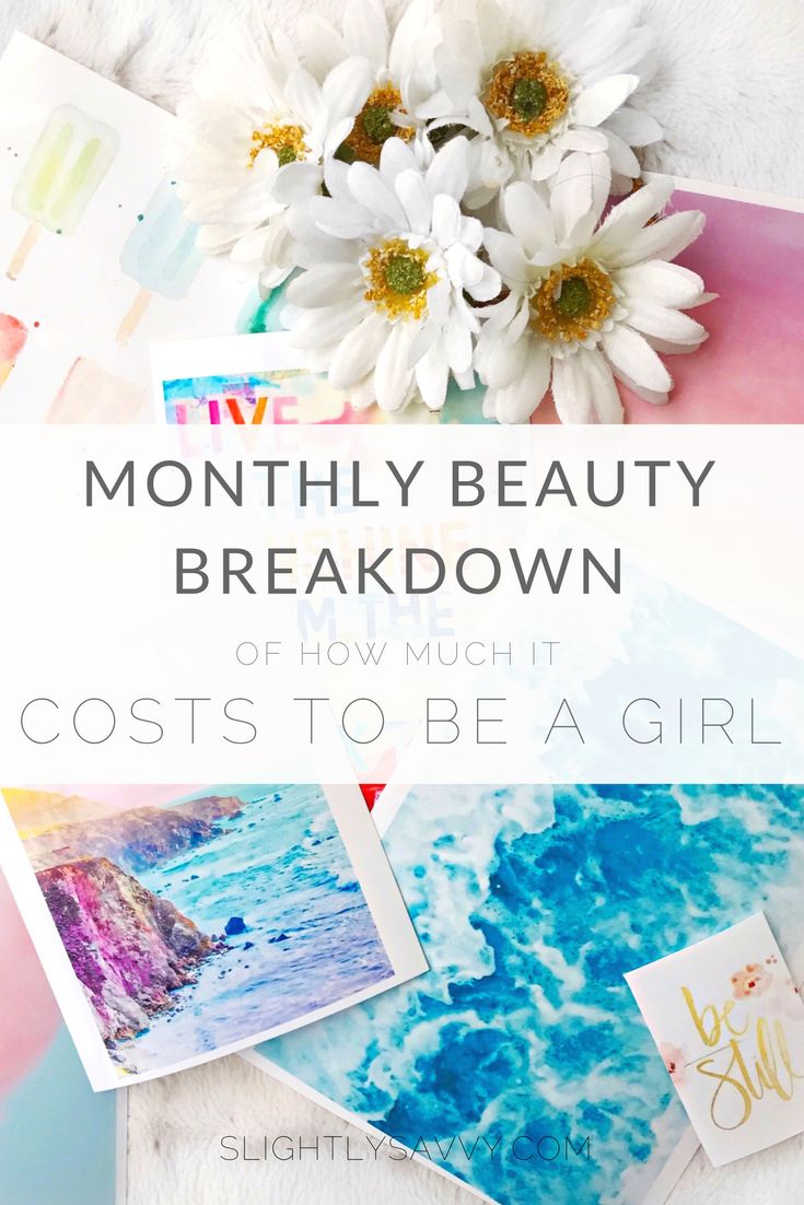 makeup ideas, skincare tips, & how much money I spend monthly.