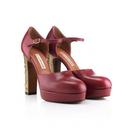 CRIMSON RED ENAMEL LEATHER SHOES #lautrechose #christmas #gift #fashion #style #shoes