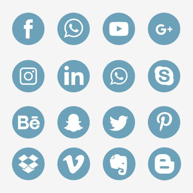 Conjunto De Icones De Midia Social Azul Simbolo Do Logotipo Icones Sociais Logo Icones Imagem Png E Vetor Para Download Gratuito Social Media Icons Social Icons Social Media Icons Free