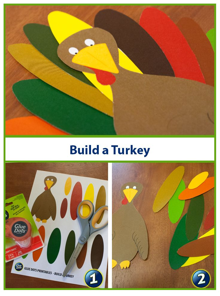Looking for a quick and easy craft for kids? Build a Turkey and name him Tom! Use our free Turkey printable, Glue Dots and kid-safe scissors and start getting into the holiday spirit.