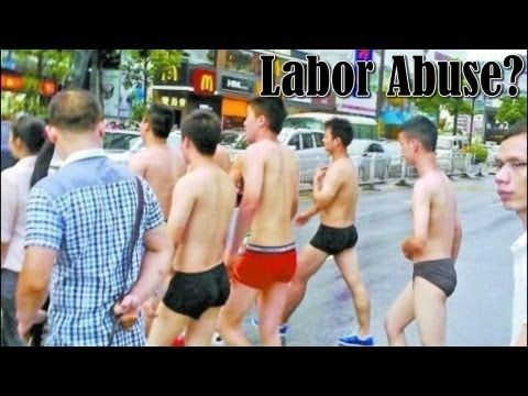 Fitness Workers Forced to Run in Underwear