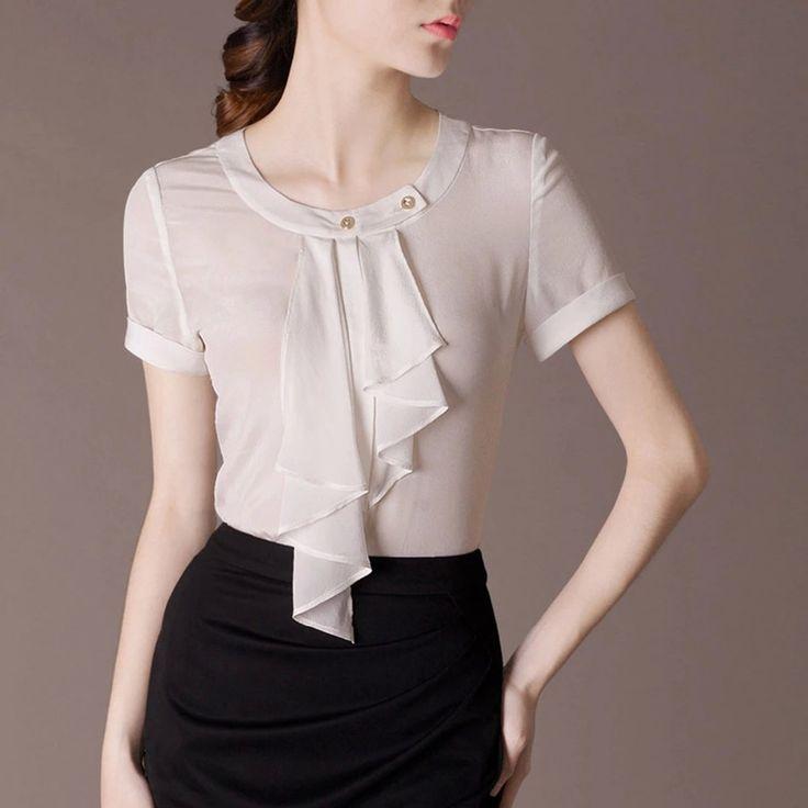 camisas femininas manga corta de seda