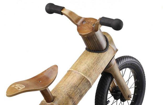 La bicicletta in legno di bamboo che sensibilizza i bambini