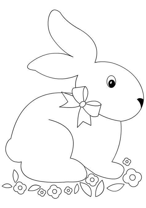 Lavoretti Di Pasqua Sagome Coniglio Tuttodisegni Com