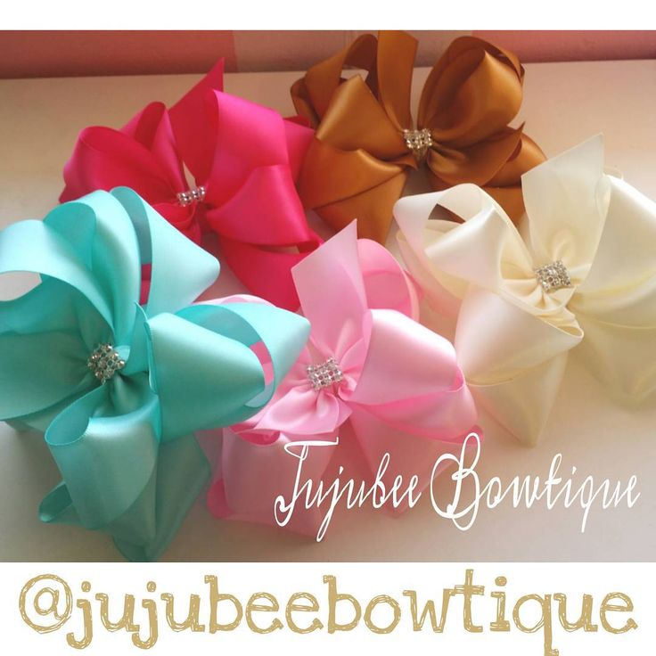 New Hair Bows in stock These bows are made out of satin ribbon and are 5in. Wide. $10.00 each