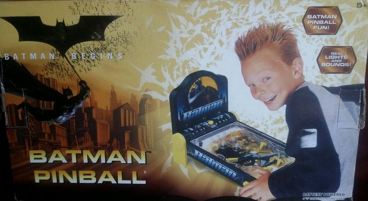 Vintage Batman Tabletop Funrise Electronic Pinball Game Open Box