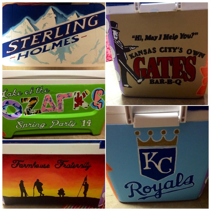 Fraternity formal cooler  Lake of the ozarks   Farmhouse University of missouri