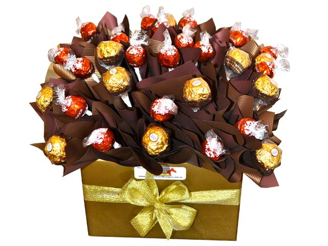 Lindt and Ferrero Chocolate Bouquet