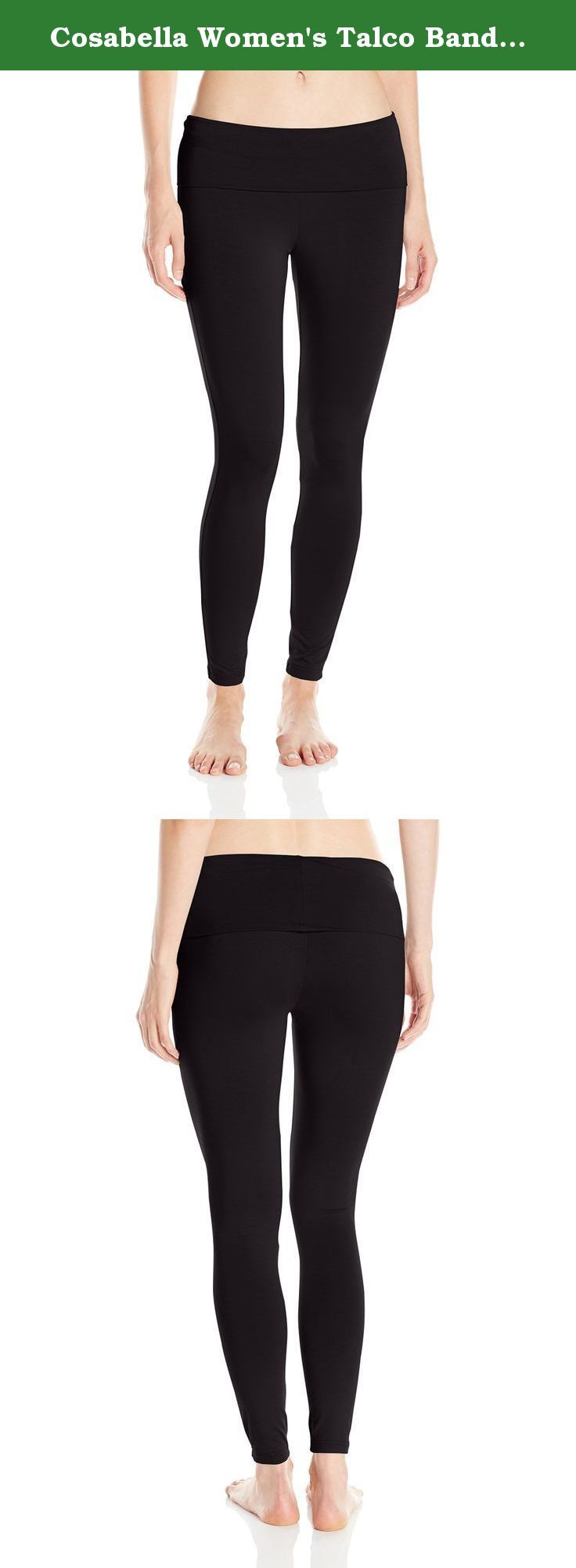 Cosabella Women's Talco Banded Legging, Black, Large. Designed in our classic rich viscose jersey the talco legging features a banded waistband.