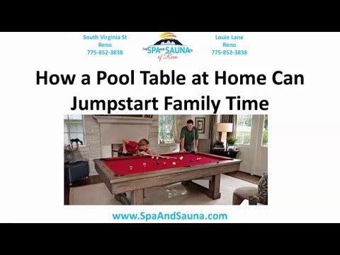 Pool Tables for Sale Truckee - How a Pool Table Can Jumpstart Family Time → Visit http://SpaAndSauna.com ☆ Best Prices on Truckee Billiard Tables, Pools Tables, New and Used Hot Tubs, Swim Spas, Gazebos, Grills! 96160, 96161, 96162  Pool Tables for Sale Truckee  Billiard Tables for Sale Truckee