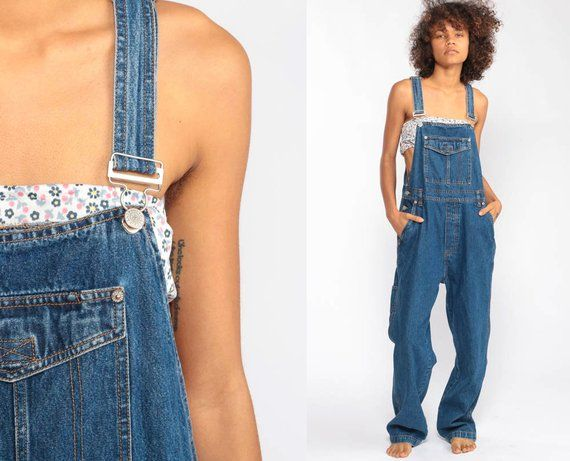 Overalls Pants Bib 90s Denim Pants Bill Blass Jean Dungarees