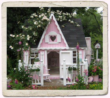 Pink playhouse - I'm sure this was a fortune. Beautiful!