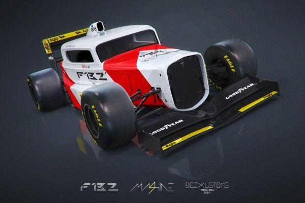 WOW ! Ada Mobil Balap Formula One Bergaya Hot Rod, Hasil karya Aaron Beck ini berhasil menyatukan hot rod dan mobil F1  #mobilWOW