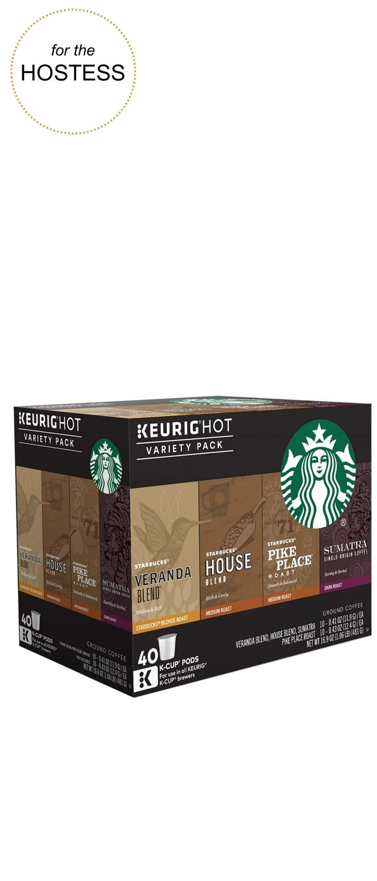 For the hostess keurig starbucks coffee 40pk variety