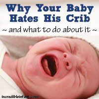 Why Your Baby Hates His Crib (and What To Do About it) This is good stuff for transitioning from bassinet to crib.