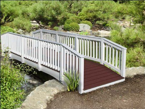 4x16 Silver Springs 2 x 2 Rail Bridge by Fifthroom. $4699.00. Capacity: 2200 lbs. Features rounded & sanded edges. Please Note: Item delivered by motor freight (common carrier).Customer may need assistance to unload. Maintenance-free Trex® Accents composite decking. Free Shipping. A 100% USA made bridge, it will be a nice homey touch to any commercial property and a majestic addition to any personal landscaping project. With intricate railings and composite de...