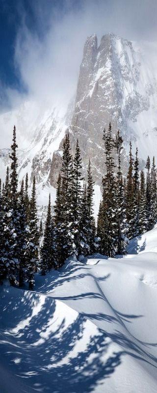Notch top Mountain, Rocky Mountain National Park, Colorado | Snow landscape photography
