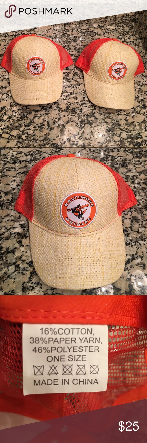 Baltimore orioles baseball hats Two is better than $25 | New without tags | One-size-fits-all Accessories Hats