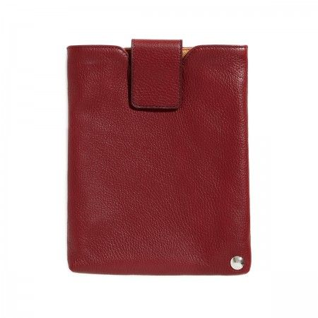 Piero I-Pad holder 100% calf leather with dollar pattern print on the outside, and in soft scratch resistant suede on the inside.  Velcro closure.