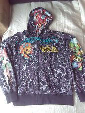 Extremely RARE MEN DON ED HARDY HOODIE By Christian Audigier MADE IN USA-TATTOOS