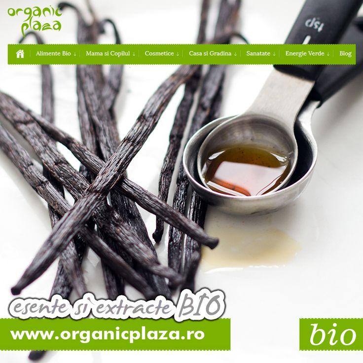 Vanilie, Lamaie, Portocala, Trandafir, Menta! Esente si Extracte BIO. Descopera-le mai jos: http://organicplaza.ro/esente-si-extracte
