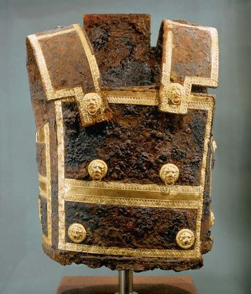 Iron and Gold Cuirass from the Tomb of King Philip II in Vergina, Greece, 339 B.C.