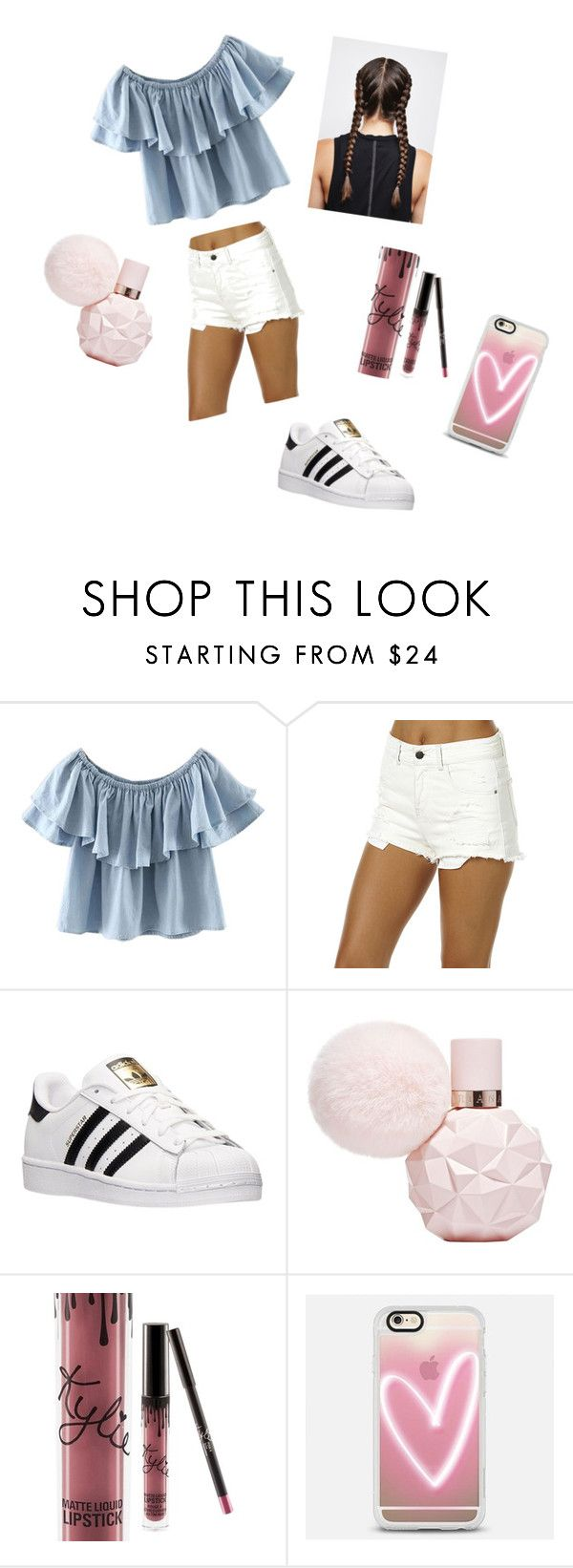 """Aussie Xmas outfit"" by maddy-lane235 on Polyvore featuring WithChic, Billabong, adidas, Kylie Cosmetics and Casetify"