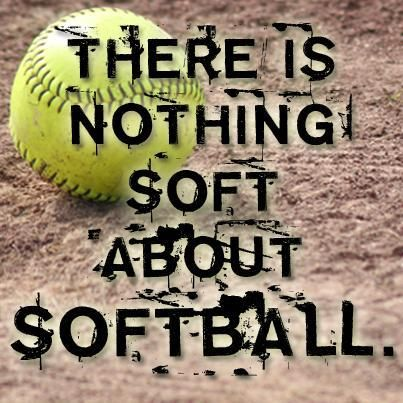 Nothing soft about softball!