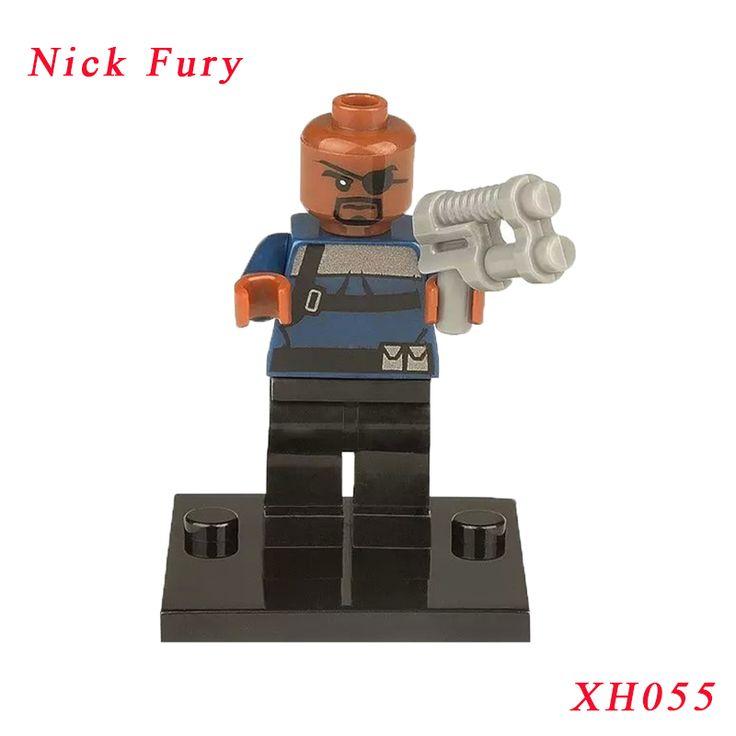 Nick Fury Super Heroes Winter Solider Maria Hill Diy Bricks Single Sale XH055 Action Figure Building Blocks Toys For Children