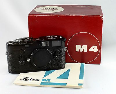Leica M4 in black enamel finish (not black chrome) Highly sought after by collectors