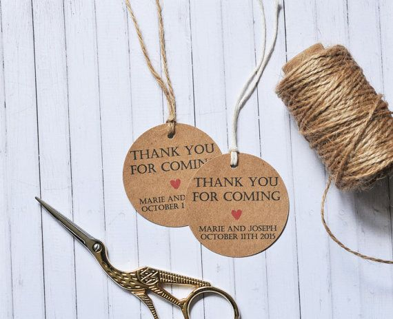 This listing is for: ~ One pack of 10, 20, 50, 100, 200 or 300 2in/5cm Thank You For Coming round gift tags. ~ You are able to choose from