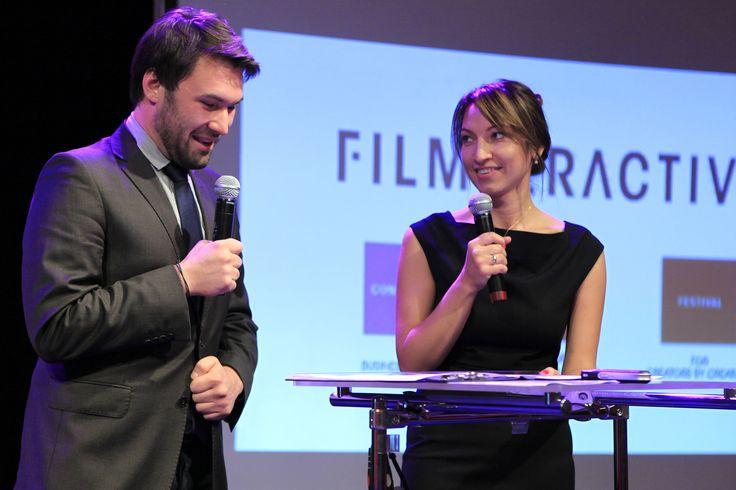 Beata Cygan and Tomasz Pełczewski - official opening of Filmteractive 2014!!!