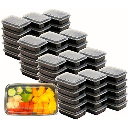 Fitpacker Meal Prep Containers with Lids - Stackable, Reusable, Microwave, Dishwasher & Freezer Safe - Lunch Box, Portion Control, 21 Day Fix & Food Storage Containers (28oz)