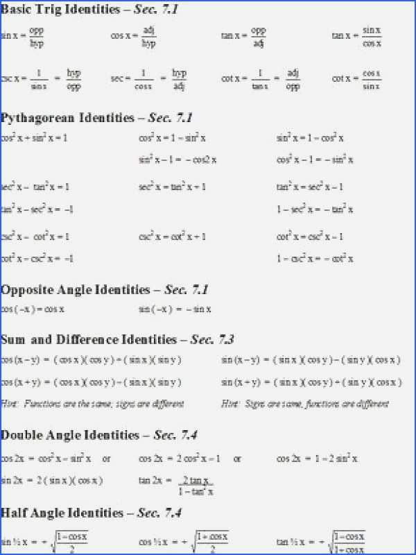Verify Trig Identities Worksheet New Worksheet Verifying Trigonometric Identities Worksh Math Review Worksheets Word Problem Worksheets Trigonometry Worksheets