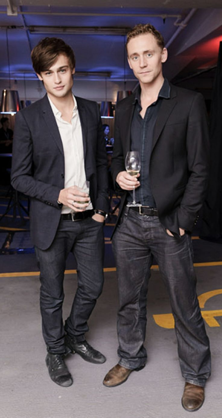 Tom Hiddleston and Douglas Booth  Again  this is perfect