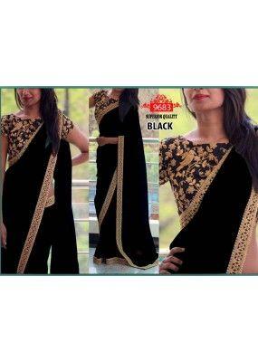Bollywood Replica - Party Wear Black Saree - WA0050