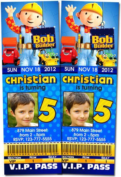 13 best Bob the builder invitations images – Bob the Builder Party Invitations