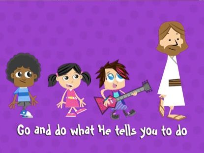"""Stop and Go. Listen and Obey. This song is upbeat, fun and will surely encourage a game of Freeze as you shout """"stop and go"""". Mostly kids will learn the importance of listening to God's voice and doing what He asks them to do."""