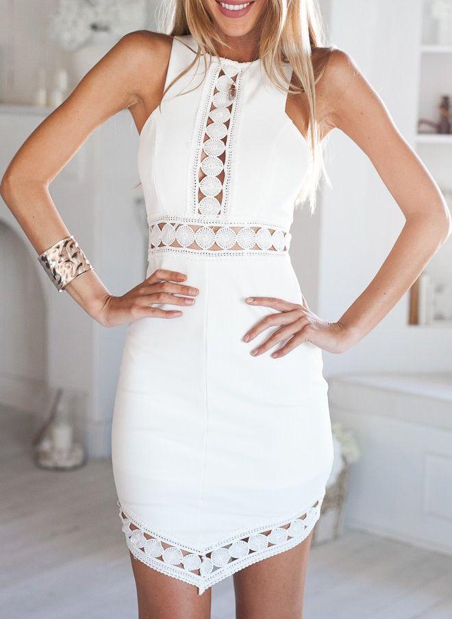 vestido sin manga hueco irregular-blanco 16.11
