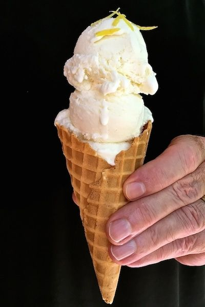 Sweet, tart and silky smooth, Easy No-Cook Meyer Lemon Ice Cream is delightfully refreshing and decidedly satisfying and, the perfect cold, creamy dessert. via @gritspinecones