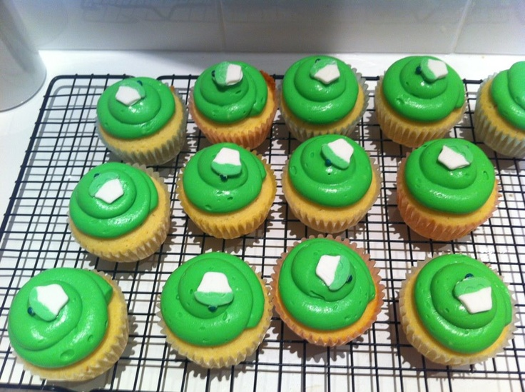 Key Lime Cupcakes. Green as grass!