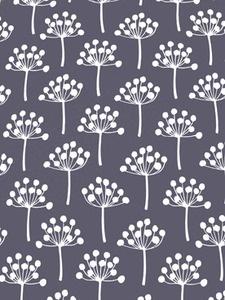 Lotta Jansdotter fabric pattern: Florine Dusted Plum