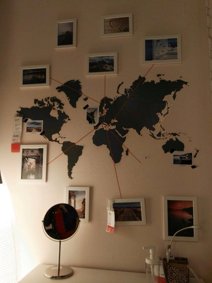 World map sticker, Made in Ikea.....