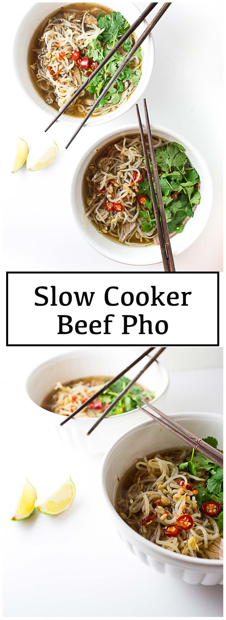 Slow Cooker Beef Pho.  #slowcookerbeef #pho #crockpotpho #crockpotrecipes